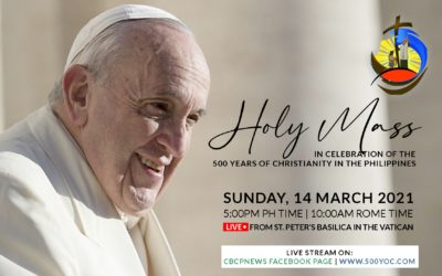 WATCH:  Pope Francis celebrates Mass for the 500 Years of Christianity in the Philippines this coming Sunday.